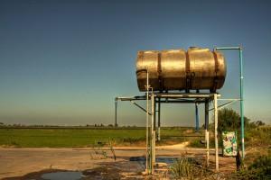 Water receiving tank